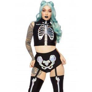 Costume Halloween Scheletro Olografico - Leg Avenue