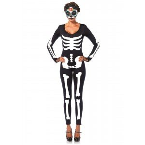 Costume Halloween Skeleton Catsuit - Leg Avenue