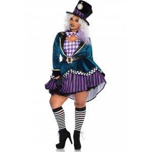 Costume Delightful Hatter 3X/4X - Leg Avenue