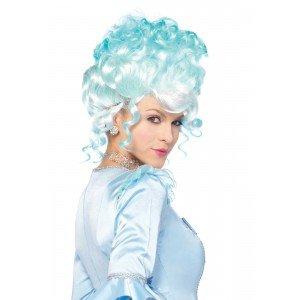 Parrucca azzurra capelli raccolti - Leg Avenue