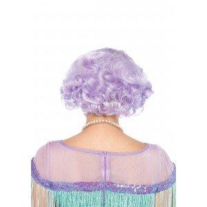 Parrucca caschetto boccoli lilla - Leg Avenue
