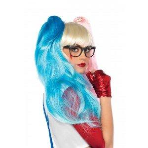 Parrucca Deviant Doll bionda/celeste/rosa - Leg Avenue