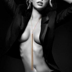 Collana gioiello con frusta dorata - Bijoux Indiscrets