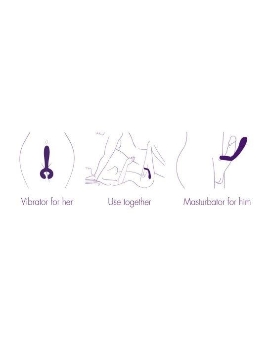 Vibratore duo viola - Rianne S