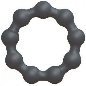 Anello vibrante grigio a palline - Marc Dorcel