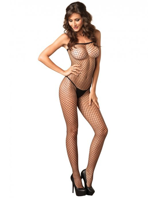 Bodystocking nero a rete T/U - Leg Avenue