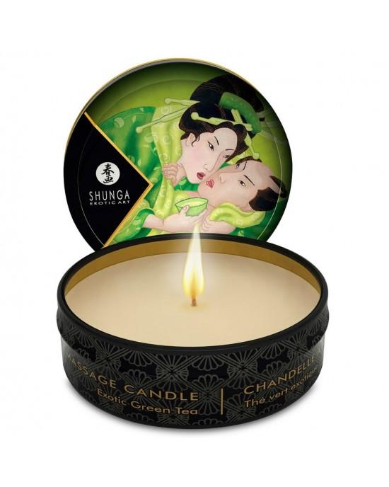 Candela da massaggio 30 ml thé verde - Shunga
