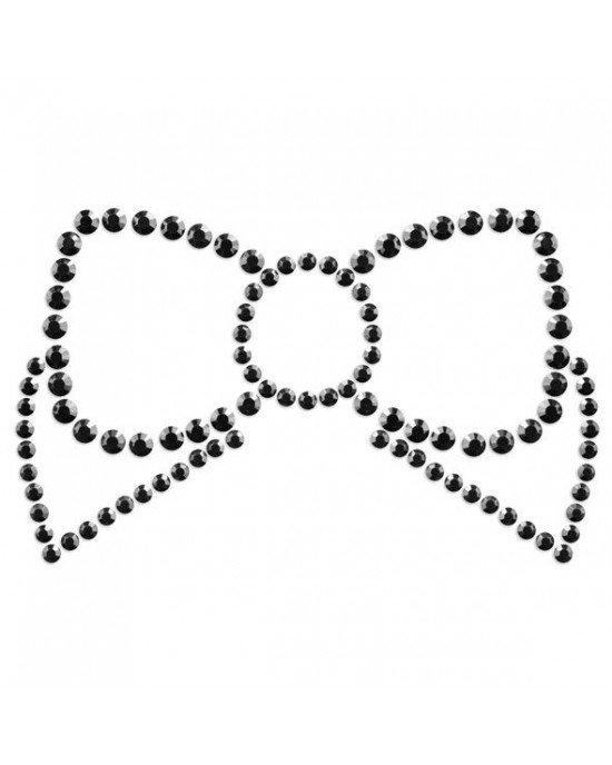 Copricapezzoli neri a fiocco - Bijoux Indiscrets