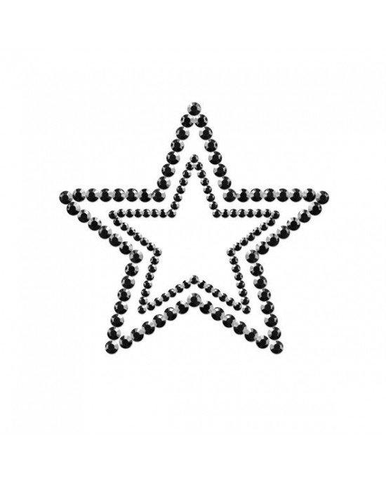 Copricapezzoli neri a stella - Bijoux Indiscrets
