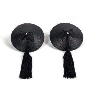 Copricapezzoli neri con perlina - Bijoux Indiscrets