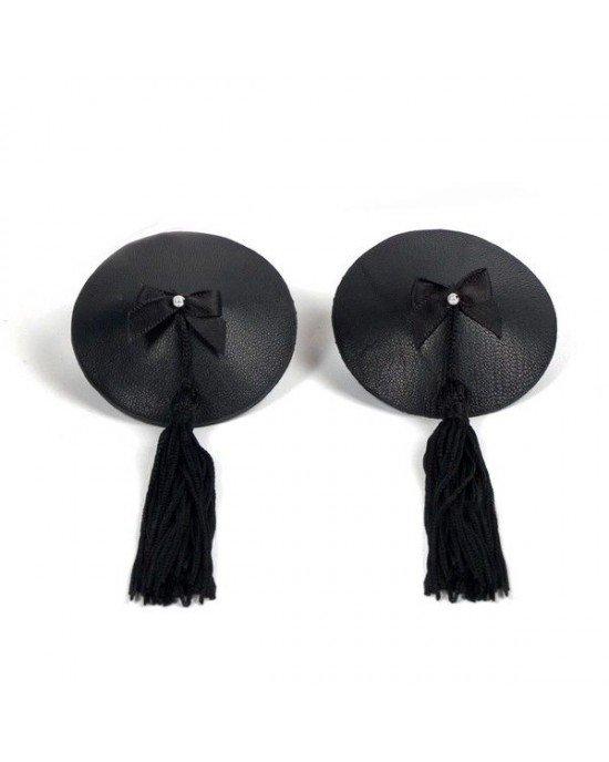 Copricapezzoli neri con perlina - Bioux Indiscrets