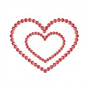 Copricapezzoli rossi a cuore - Bijoux Indiscrets