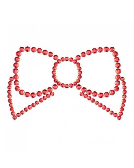Copricapezzoli rossi a fiocco - Bijoux Indiscrets