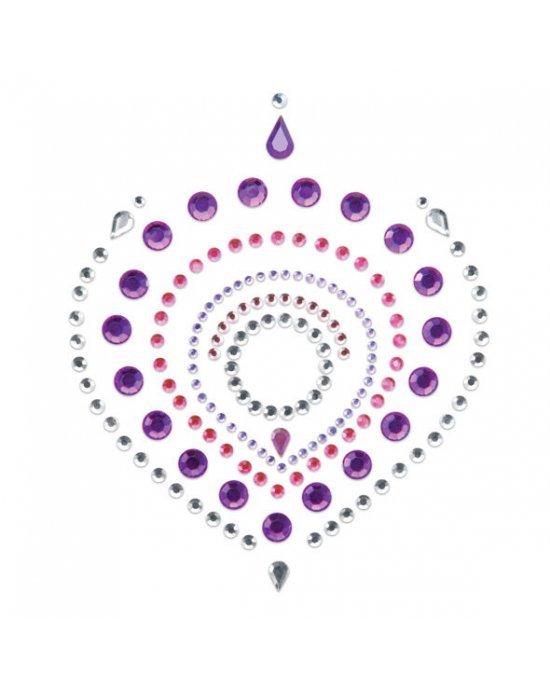 Copricapezzoli viola e rosa - Bijoux Indiscrets