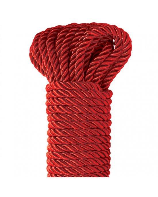 Corda Deluxe di seta rossa 9,75m - Fetish Fantasy