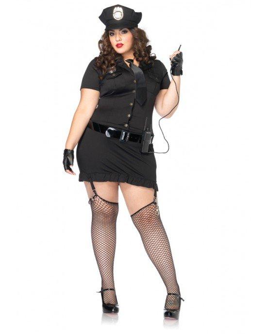 """Costume da poliziotta XL-XXL """"Dirty Cop"""" - Leg Avenue"""