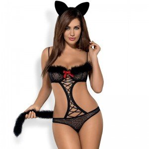 Costume Gepardina 3pc S/M - Obsessive