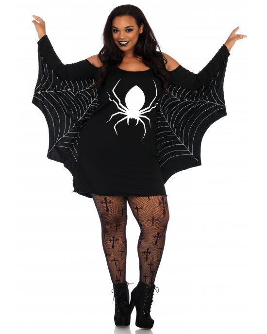 Costume Halloween Jersey Spiderweb Dress - Leg Avenue
