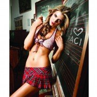 Costume Honor Roll Schoolgirl Set White - Baci lingerie