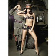 Costume Trooper Bra & Mini Skirt S/M - Baci lingerie