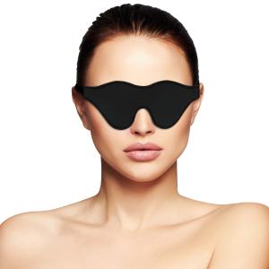 Maschera per occhi nera PVC - Darkness