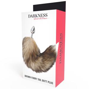 Plug anale con coda di furetto - Darkness