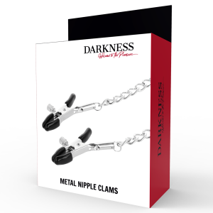 Morsetti per capezzoli con catena - Darkness