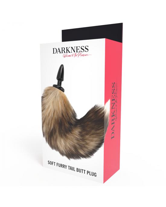 Plug anale in silicone con coda - Darkness