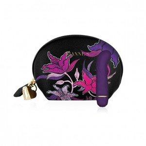 Borsetta nera a fiori con vibratore viola punto G - Rianne S