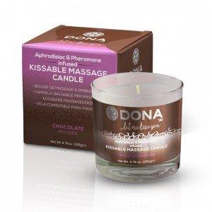 Candela da massaggio Mousse di Cioccolato 135g - Dona