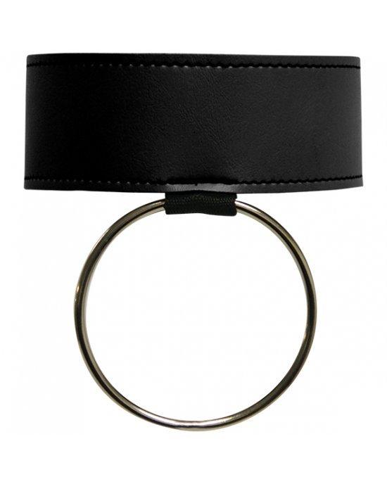 Collare nero con anello - Sex and Mischief