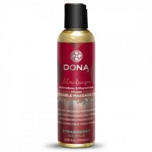 Olio massaggi Soufflè alle fragole 110ml - Dona