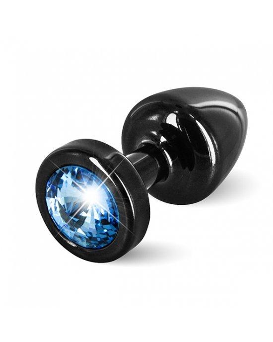 Plug anale nero/azzurro con Swarovski - Diogol