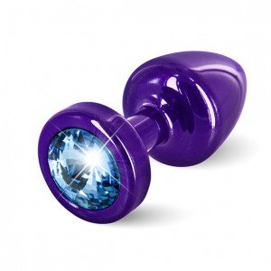 Plug anale viola/azzurro con Swarovski - Diogol
