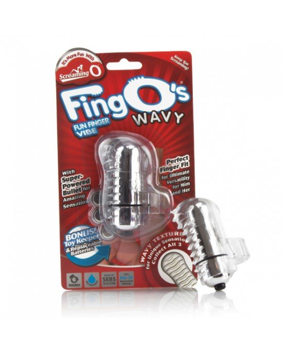 Vibratore Fingo Wavy trasparente - The Screaming O
