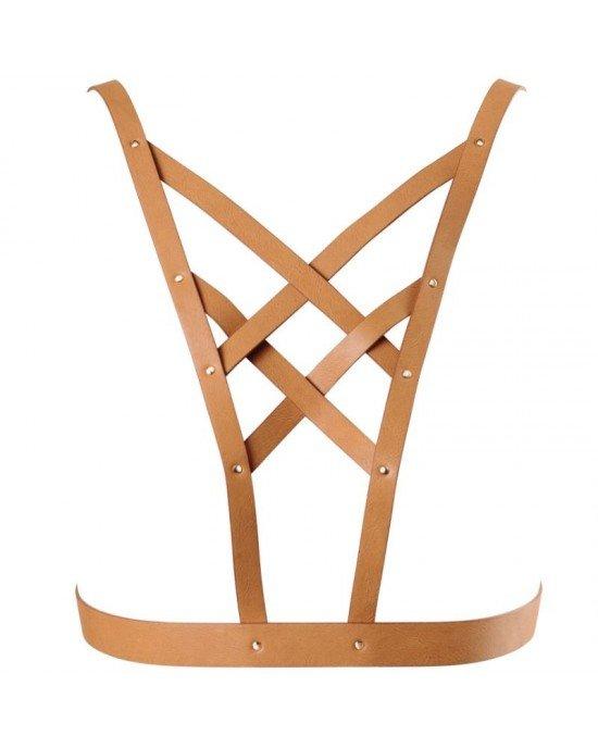 Imbracatura a scollatura incrociata, marrone - Bijoux Indiscrets