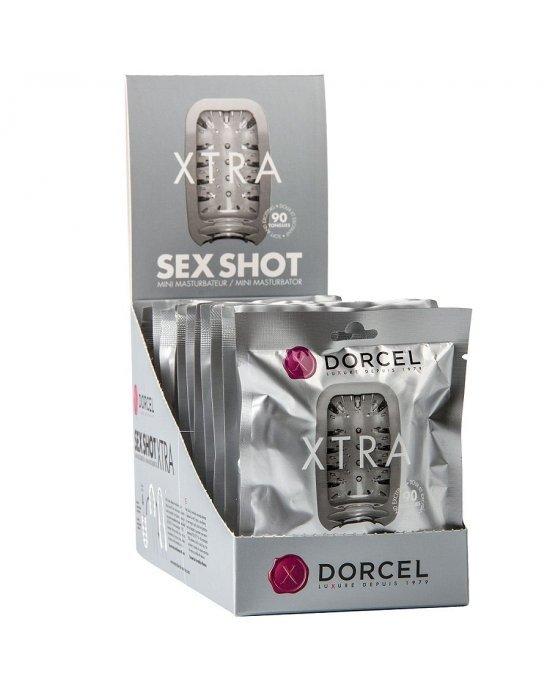 Masturbatore Sex Shot trasparente - Marc Dorcel