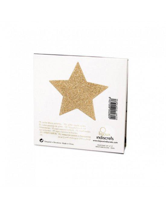 Copricapezzoli dorati a stella - Bijoux Indiscrets