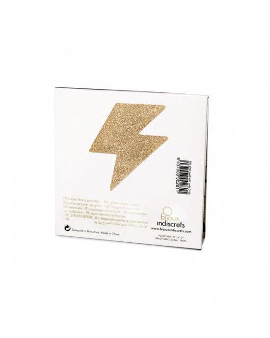 Copricapezzoli dorati fulmine - Bijoux Indiscrets