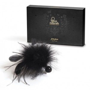 Tickler nero in piume Pom Pom - Bijoux Indiscrets