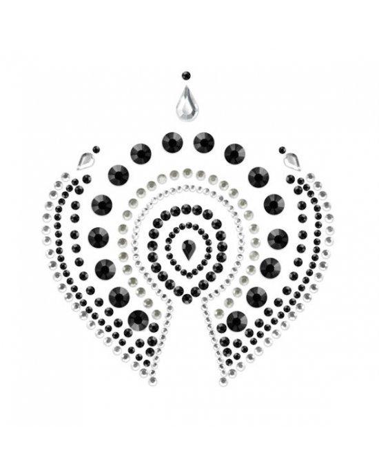 Copricapezzoli neri e argento - Bijoux Indiscrets