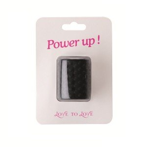 Anello nero Power Up pene - Love to love