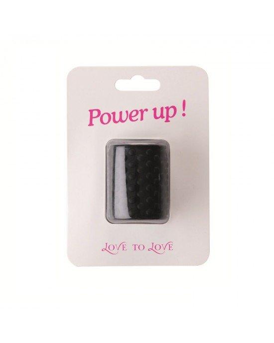 Anello nero Power Up pene - Love to love