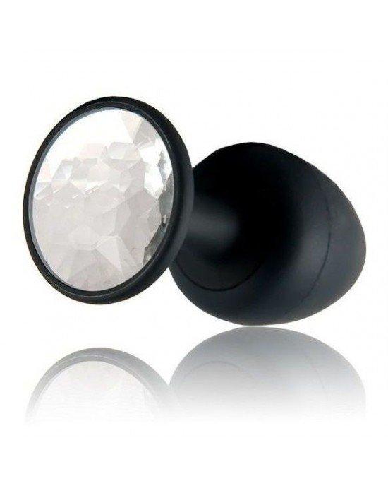 Plug anale Diamond nero/bianco 9,5cm - Marc Dorcel