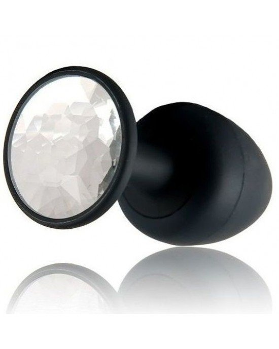 Plug anale Diamond nero/bianco 10,8cm - Marc Dorcel