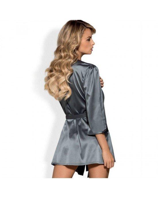 Kimono Satinia grigio S/M - Obsessive