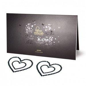 Copricapezzoli argentati a cuore linea mini - Bijoux Indiscrets