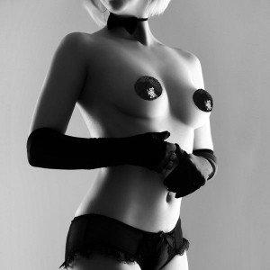 Copricapezzoli neri con paillettes - Bijoux Indiscrets