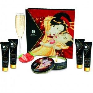 Cofanetto geisha fragola e champagne - Shunga