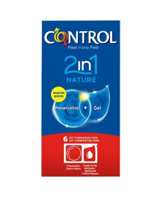 Preservativo nature 2 in 1 confezione 6 pezzi - Control
